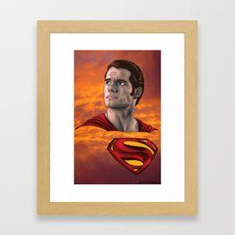 Superman - Henry Cavill Framed Art Print