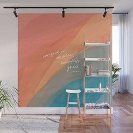 wrapped in endless, boundless grace Wall Mural