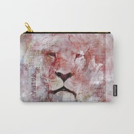 Watercolor Lion Vintage Africa Illustration Carry-All Pouch
