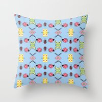 bugs Throw Pillows featuring Bugs by Lena Photo Art