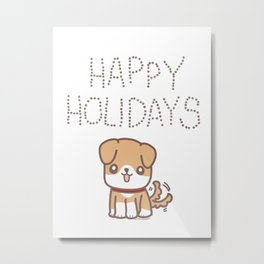 Happy Holidays Boof! Metal Print