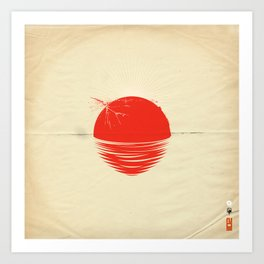 """Japan relief poster/all proceeds will go to """"Peace Winds"""" Art Print"""