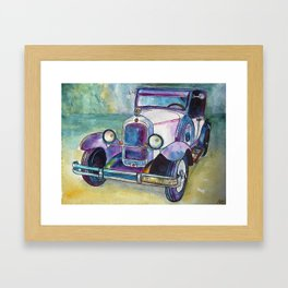 Purple car Framed Art Print