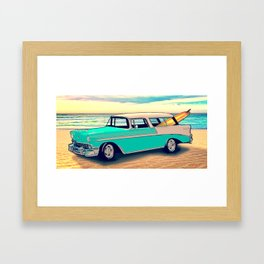 56 Nomad by the Sea in the Morning Framed Art Print