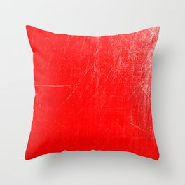 red scratches Throw Pillow