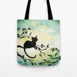 Lily Sitting in the Center of the Sky Tote Bag