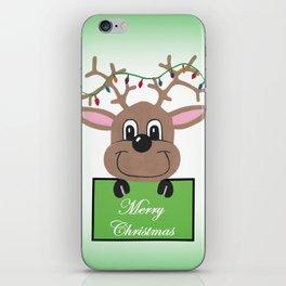 Christmas Reindeer Greetings iPhone Skin