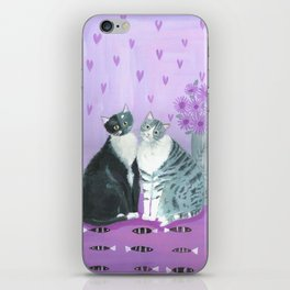 Cats on Violet iPhone Skin