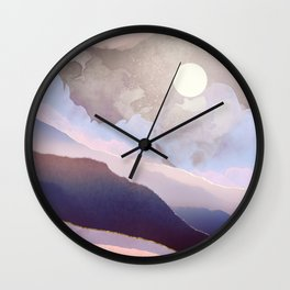Lavender Night Wall Clock