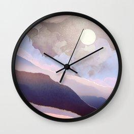 Lavender Night Wall Clock