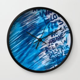 Watercolor with words Wall Clock