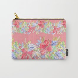 hawaiian flowers red pink Carry-All Pouch