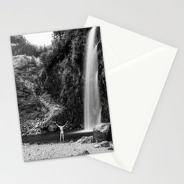 Naked Long Exposure Waterfall Stationery Cards