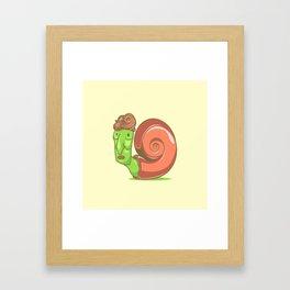 Swag Snail Framed Art Print