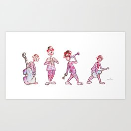 Musical clowns Art Print
