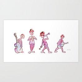 Musical clowns Art Print