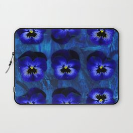 Deep Blue Velvet Laptop Sleeve