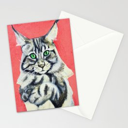 Red Maine Coon Stationery Cards