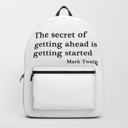 The secret of getting ahead Backpack
