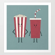 Movie Time Art Print