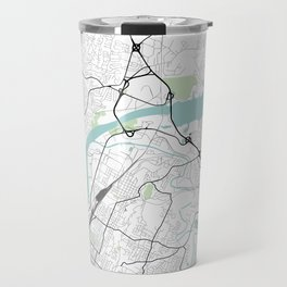 Chattanooga, Tennessee City Map with GPS Coordinates Travel Mug