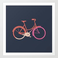bike Art Prints featuring Bike by Leandro Pita