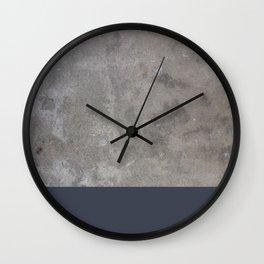 Dipped Concrete Print Wall Clock