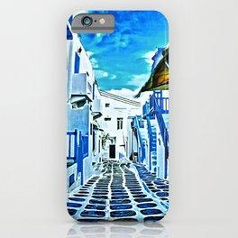 Mykonos Market Hallway iPhone Case