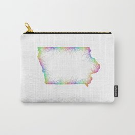 Rainbow Iowa map Carry-All Pouch