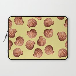 Yellow Big Clam pattern Illustration design Laptop Sleeve