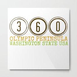 360 Olympic Peninsula Metal Print