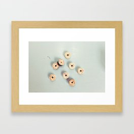 The Way Sewing Used To Be: Vintage Bobbins Framed Art Print