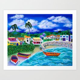 Afternoon in Puerto Rico Art Print