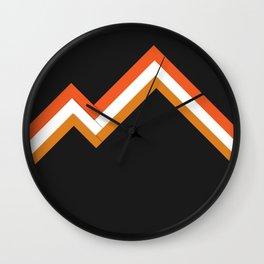 Athletic Retro Orange #kirovair #home #decor #retro #orange #gymwear #athletic #design Wall Clock
