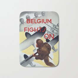 Belgium Fights On -- WWII Bath Mat