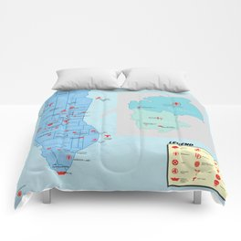 New York City- A Comic Book Tour Comforters