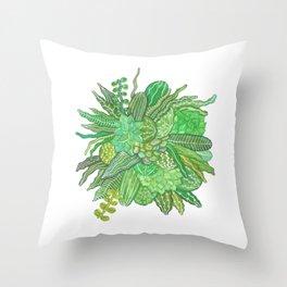 wild cacti Throw Pillow