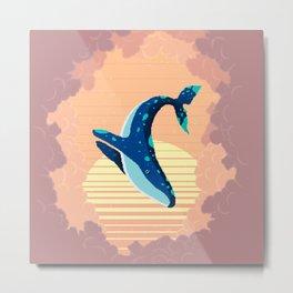 Sky Whale Metal Print