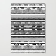 DG Aztec No.2 Monotone Canvas Print