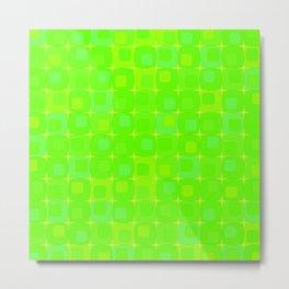 Retro kitchen pattern green Metal Print
