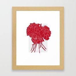 Floral Reds Framed Art Print