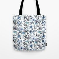 jenna kutcher Tote Bags featuring Under the Sea by jenna lechner