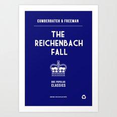 BBC Sherlock The Reichenbach Fall Minimalist Poster Art Print