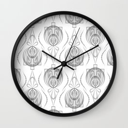 Art Deco 40 . Light Grey background Forever . Wall Clock