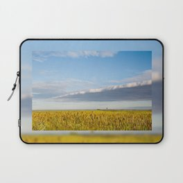 Morass grass in sun rising Laptop Sleeve