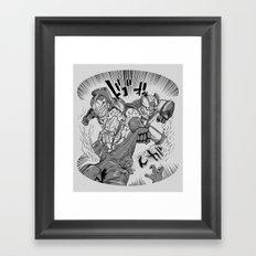 Double Rocket Punch!! Framed Art Print
