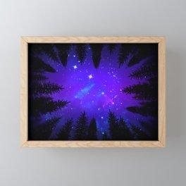 Magical Forest Galaxy Night Sky Framed Mini Art Print