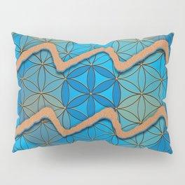 AQUARIUS Flower of Life Astrology Design Pillow Sham