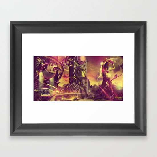 Cityshift Framed Art Print