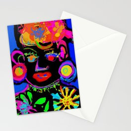 Pop Art African Queen Digital Drawing Stationery Cards